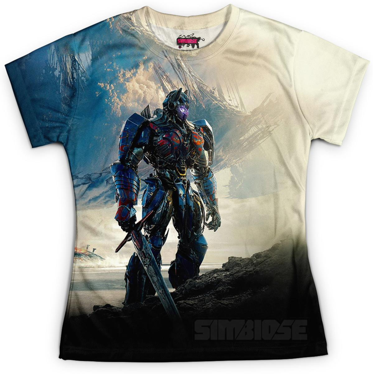 fedf8cea89 Camiseta Baby Look Feminina Optimus Prime Transformers MD03 no Elo7 ...