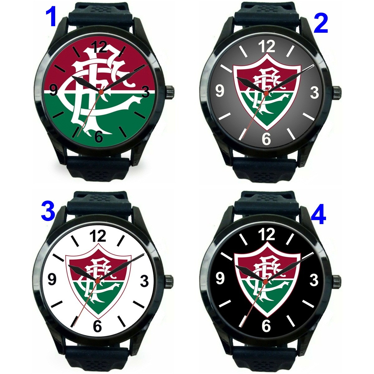 7de6cb5a7be 1 Relógio pulso personalizado esportivo Fluminense barato no Elo7 ...