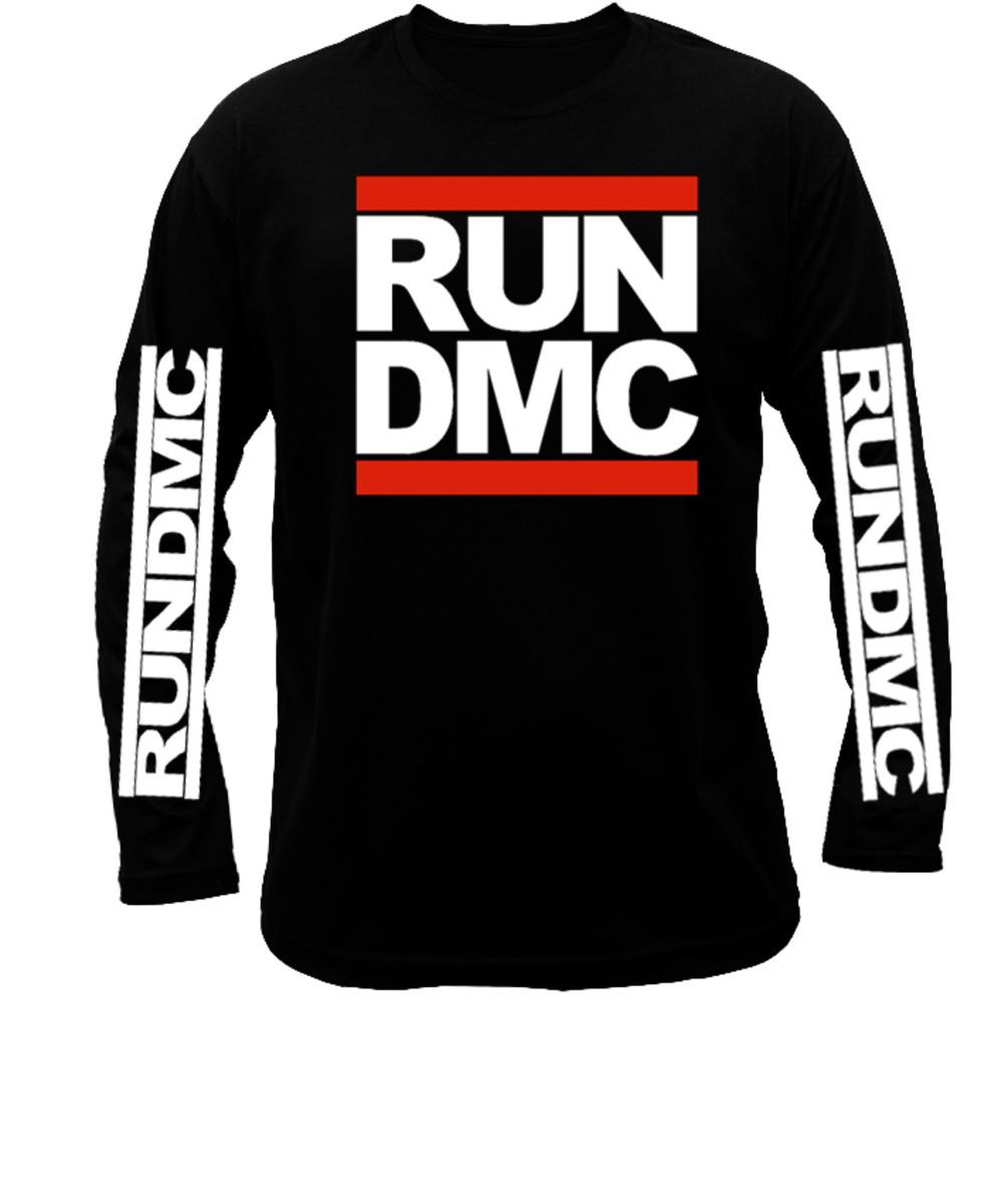6bdf258a2e745 Camiseta Manga Longa Run DMC logo. camiseta de rap no Elo7