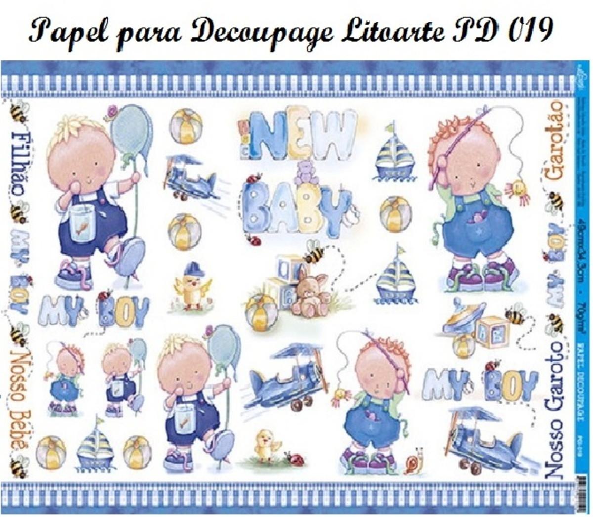 Lote com 19 folhas de papel para decoupage cole o menino - Papel decoupage infantil ...