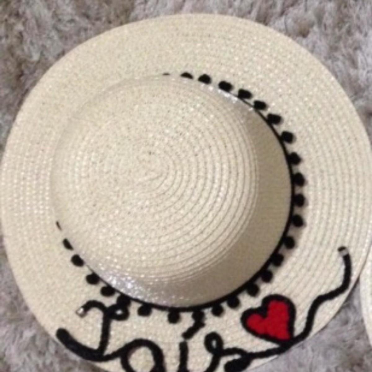 Chapéu de Palha Infantil Personalizado no Elo7  1f7a37b82f7