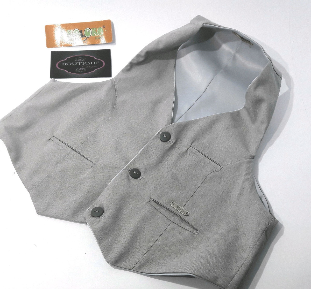 a55c2e99bf Camisa branca e Colete Social Infantil Masculino no Elo7