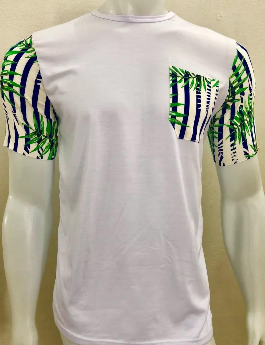 a7bd23e72 Camiseta Camisa Blusa Longline Masculina Com Bolso Estampado no Elo7 ...