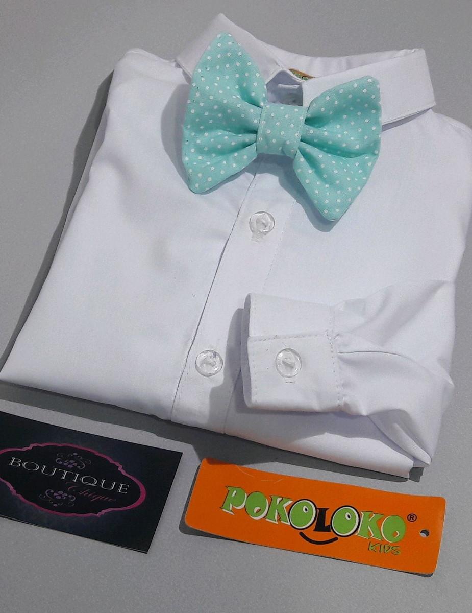 c8101e9e1f Camisa Branca Social Infantil+Gravata no Elo7