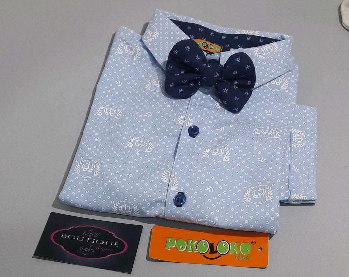 1290f27b14 Camisa Azul Claro Social Infantil manga curta+gravata no Elo7 ...