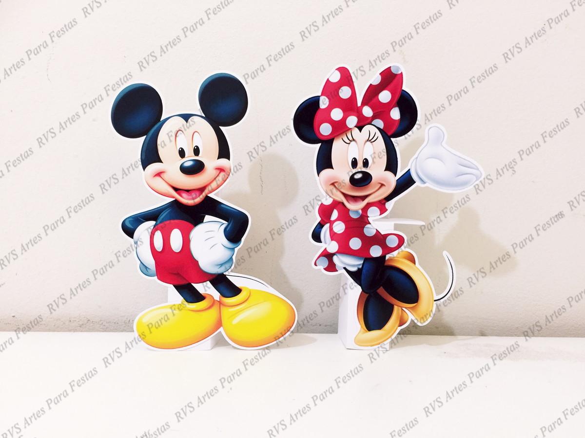 d9fd89684 2 Displays de mesa - Mickey Mouse e Minnie Mouse no Elo7