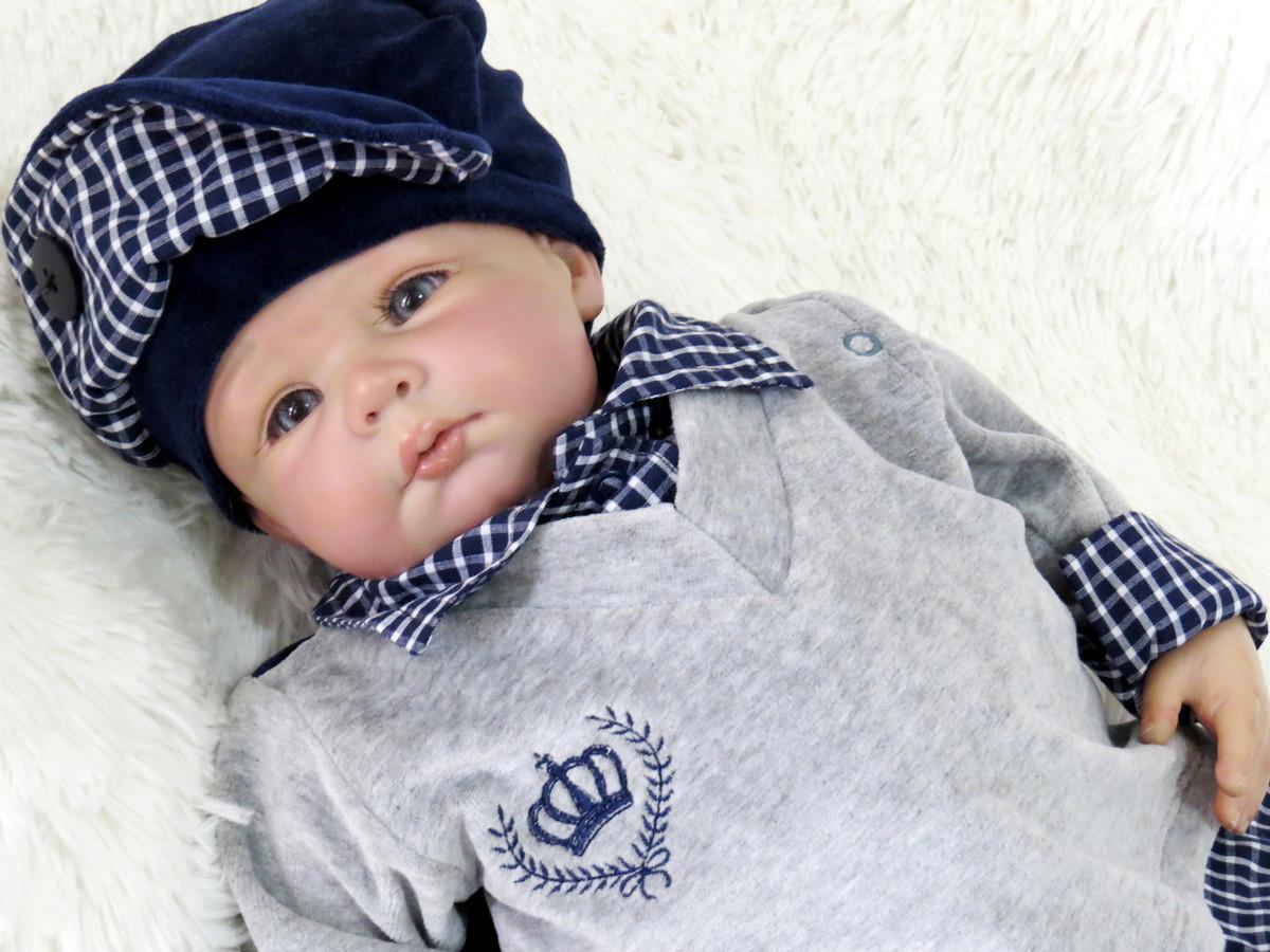 fee906f7864e Saída Maternidade Príncipe Xadrez com Porta Bebê no Elo7   Santa ...