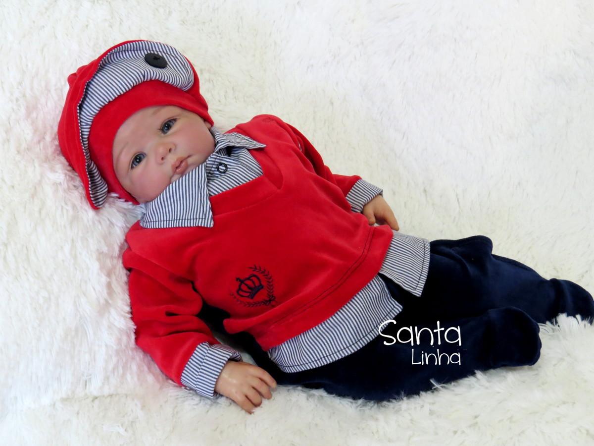 0f442c5a4223 Saída Maternidade Príncipe Vermelho Com Porta Bebê no Elo7   Santa ...