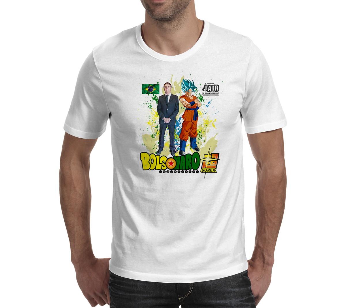 Camisa Camiseta Jair Bolsonaro Presidente 2018 Goku no Elo7  6ebfa002cc4c8