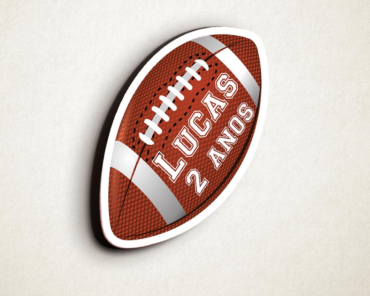 Aplique placa quadro com texto – MDF bola futebol americano no Elo7 ... 4ce6e93a9d06f