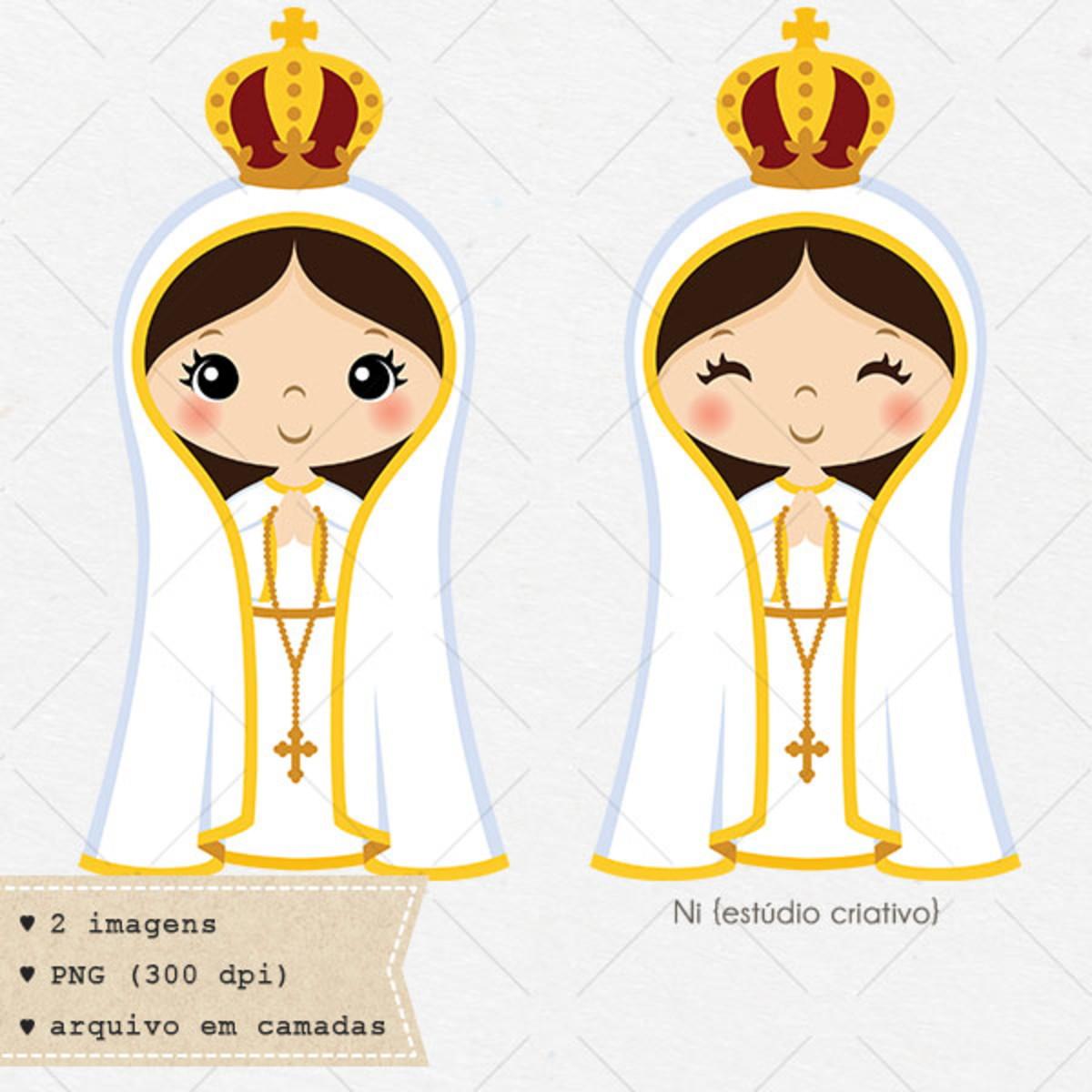 Nossa Senhora De Fatima Clipart Vetor No Elo7 Ni Estudio