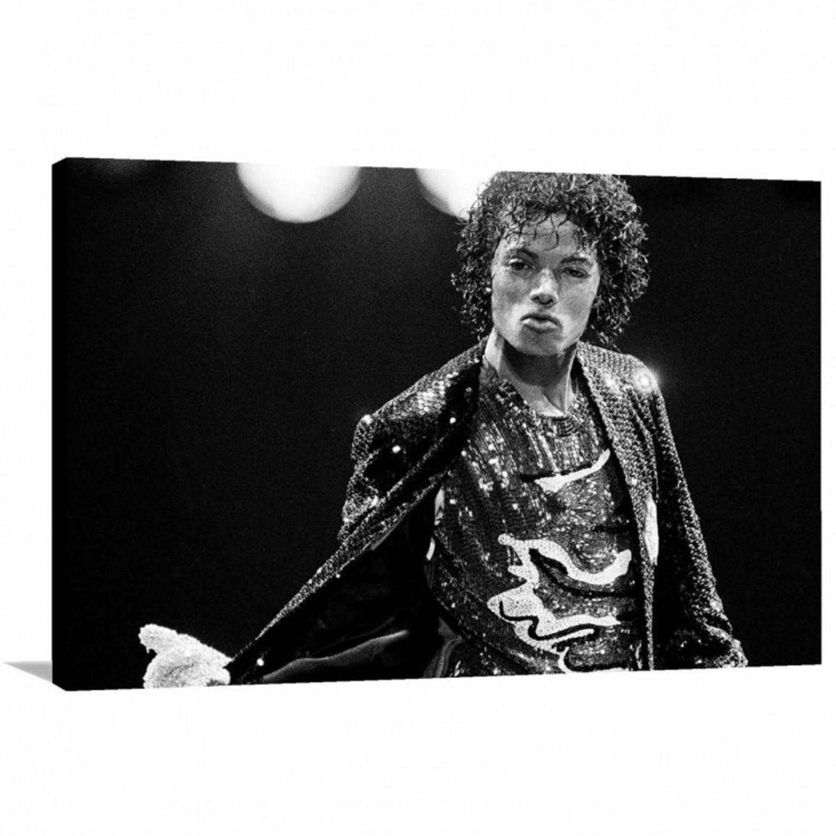 f4dfbf1f69 Quadro Michael Jackson Show decorativo com Tela em Tecido no Elo7 ...