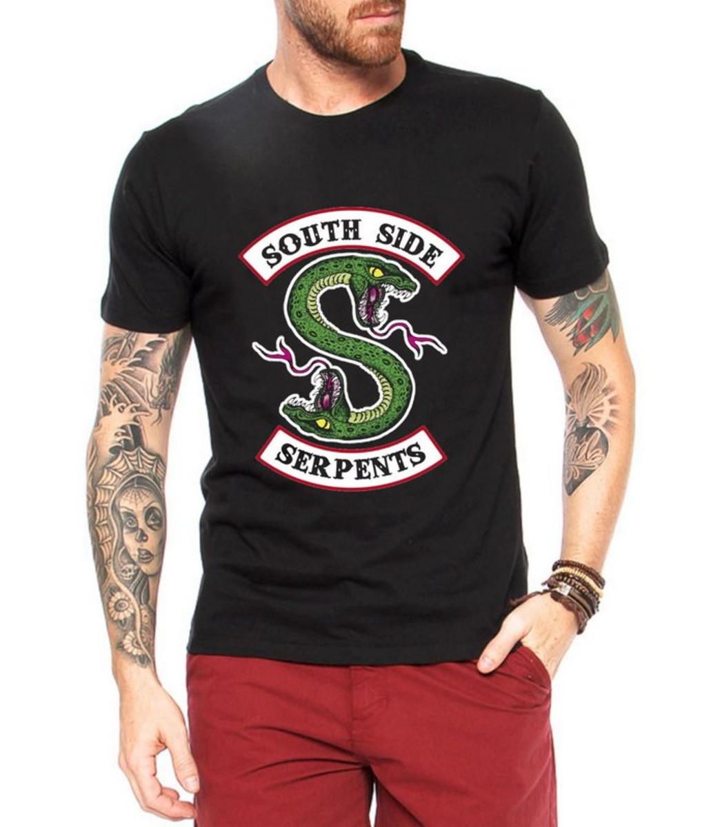 01ec448d2f Camiseta Riverdale Serpentes Masculina Preta Série Serpents no Elo7 ...