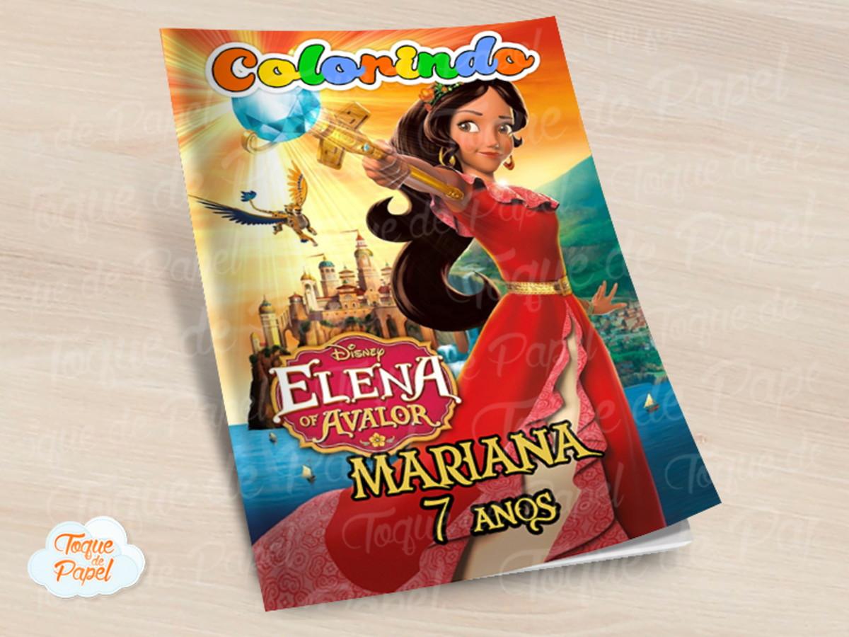 Revista Colorir Elena De Avalor No Elo7 Toque De Papel D7c74c