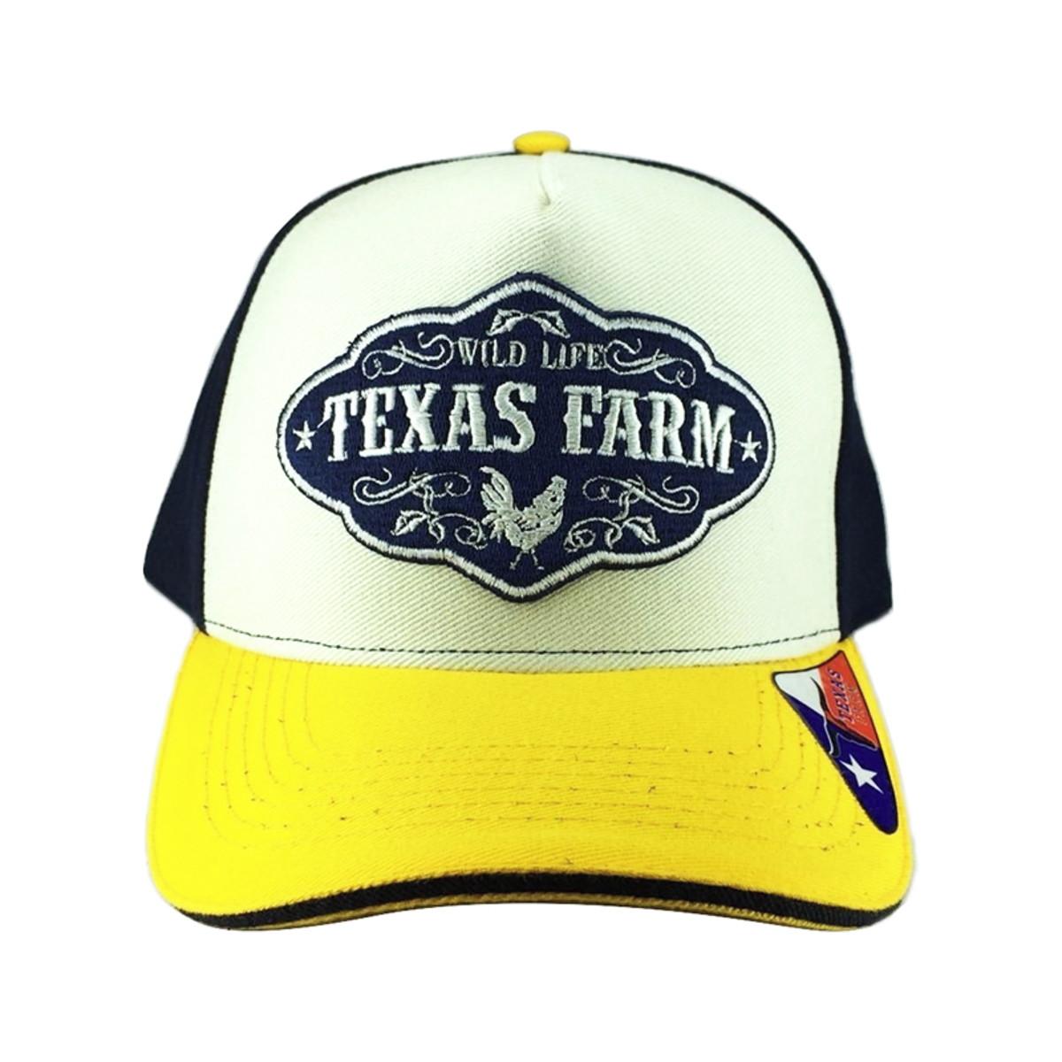3452be05bd25e Boné De Aba Reta Country Texas Farm West Wild no Elo7