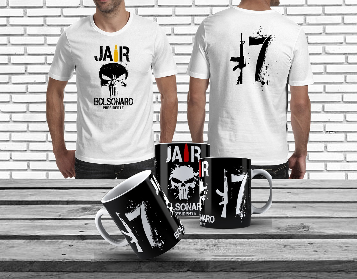 336110ea21bd1 Kit Camiseta Jair Bolsonaro Caneca Jair Bolsonaro Bolsomito no Elo7 ...