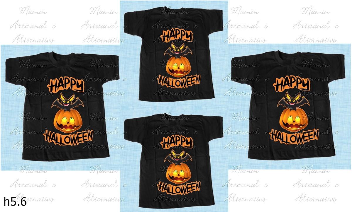 f9bd28e32d kit 4 Camiseta divertidas Halloween Coloridas branca Algodão no Elo7 ...