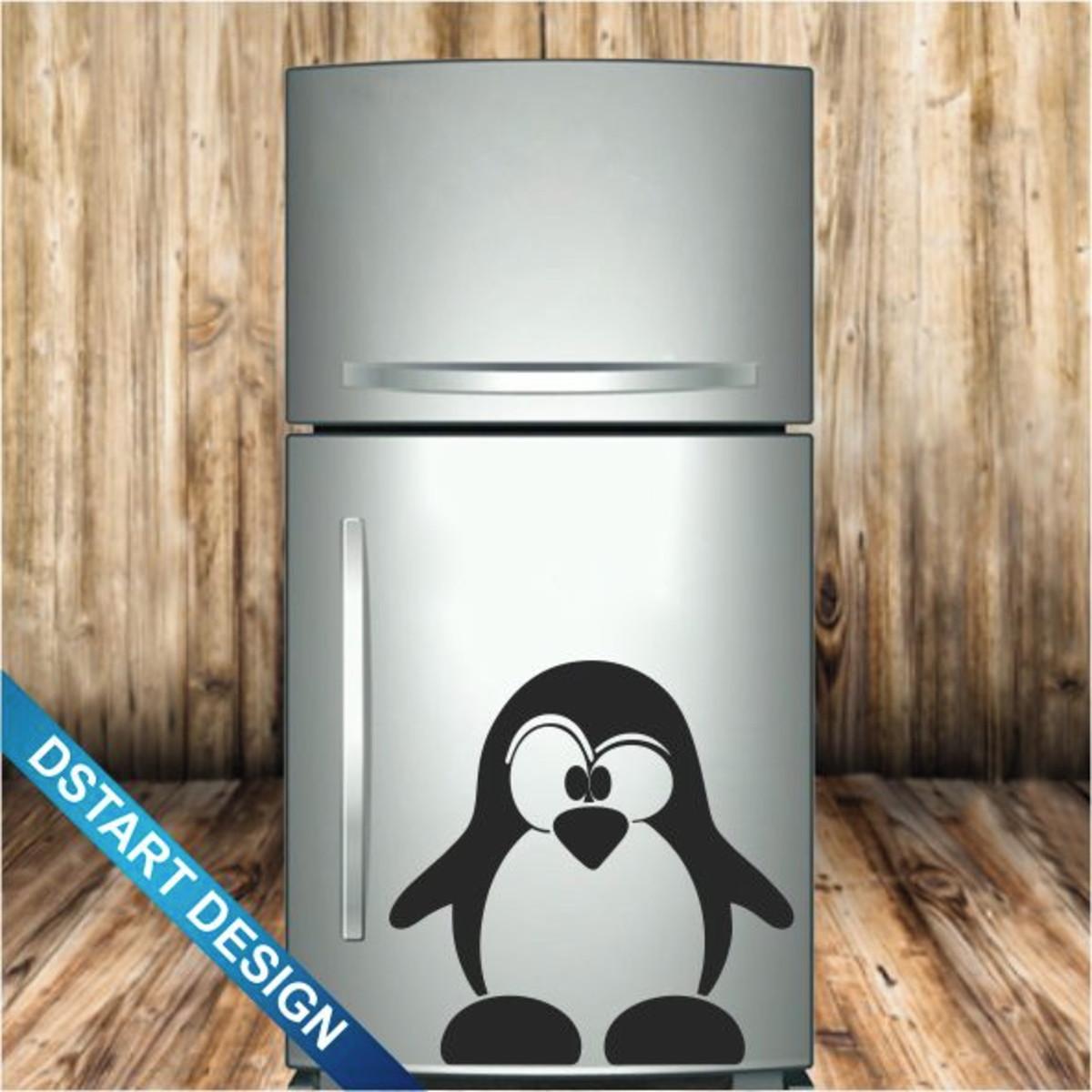 Adesivo Decoração Geladeira Pinguim Mod.5 no Elo7  48361e0e613ec