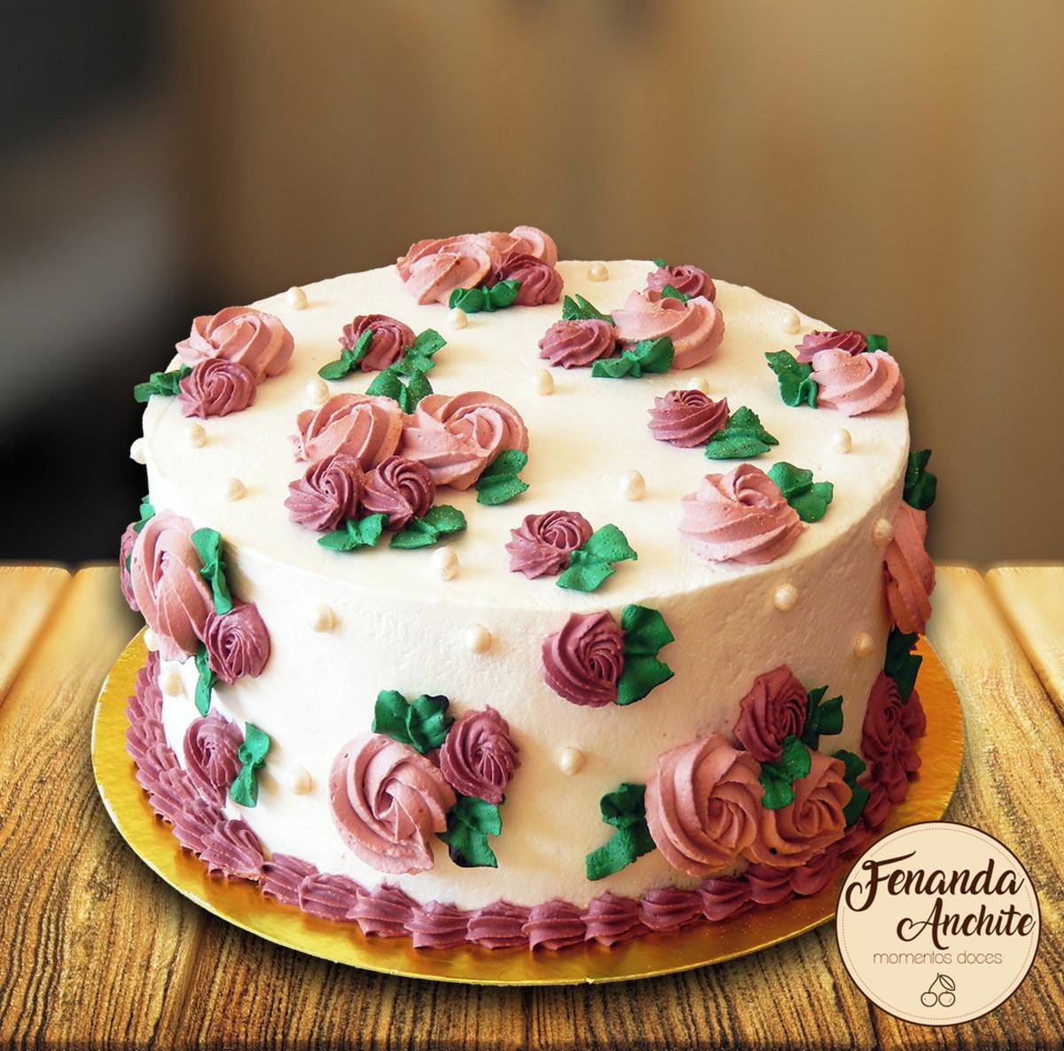 Torta Decorada Pequena (10 fatias) no Elo7 | Fernanda Anchite ...