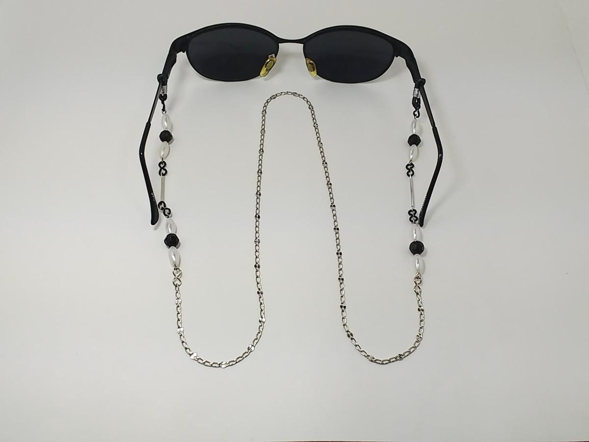 7fe1b87c4a Corrente para óculos cor níquel no Elo7 | Cafeli (D80CF9)