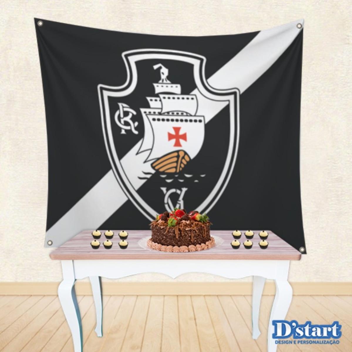 Painel Festa em Tecido Time de Futebol Vasco Mod.13 no Elo7  3afa77fee8f37
