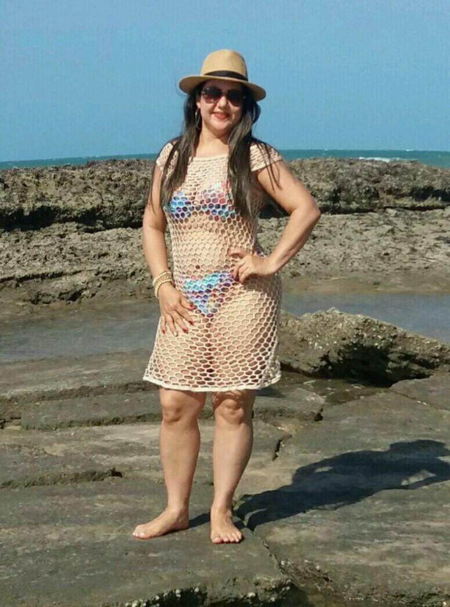 7c44b16410 Vestido Saida de praia croche no Elo7