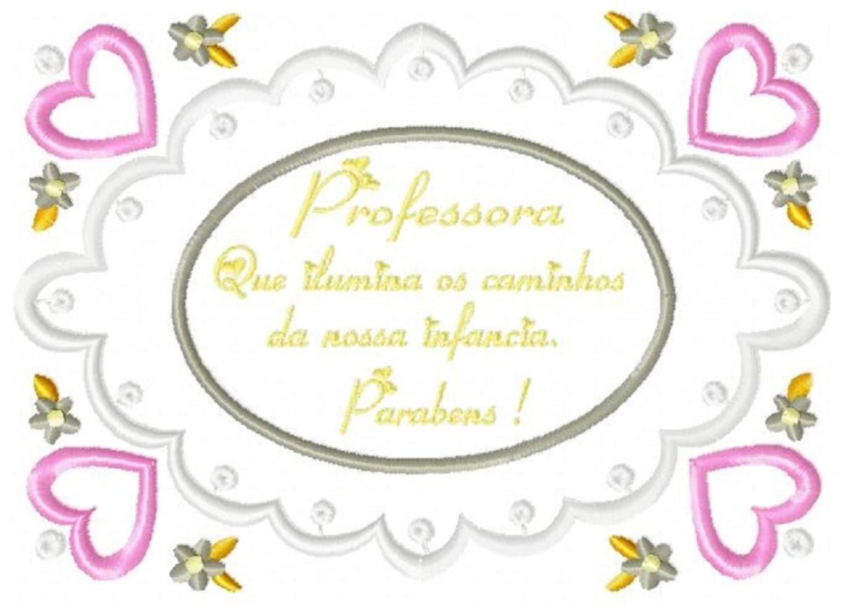 Matriz Bordado Frase Professora