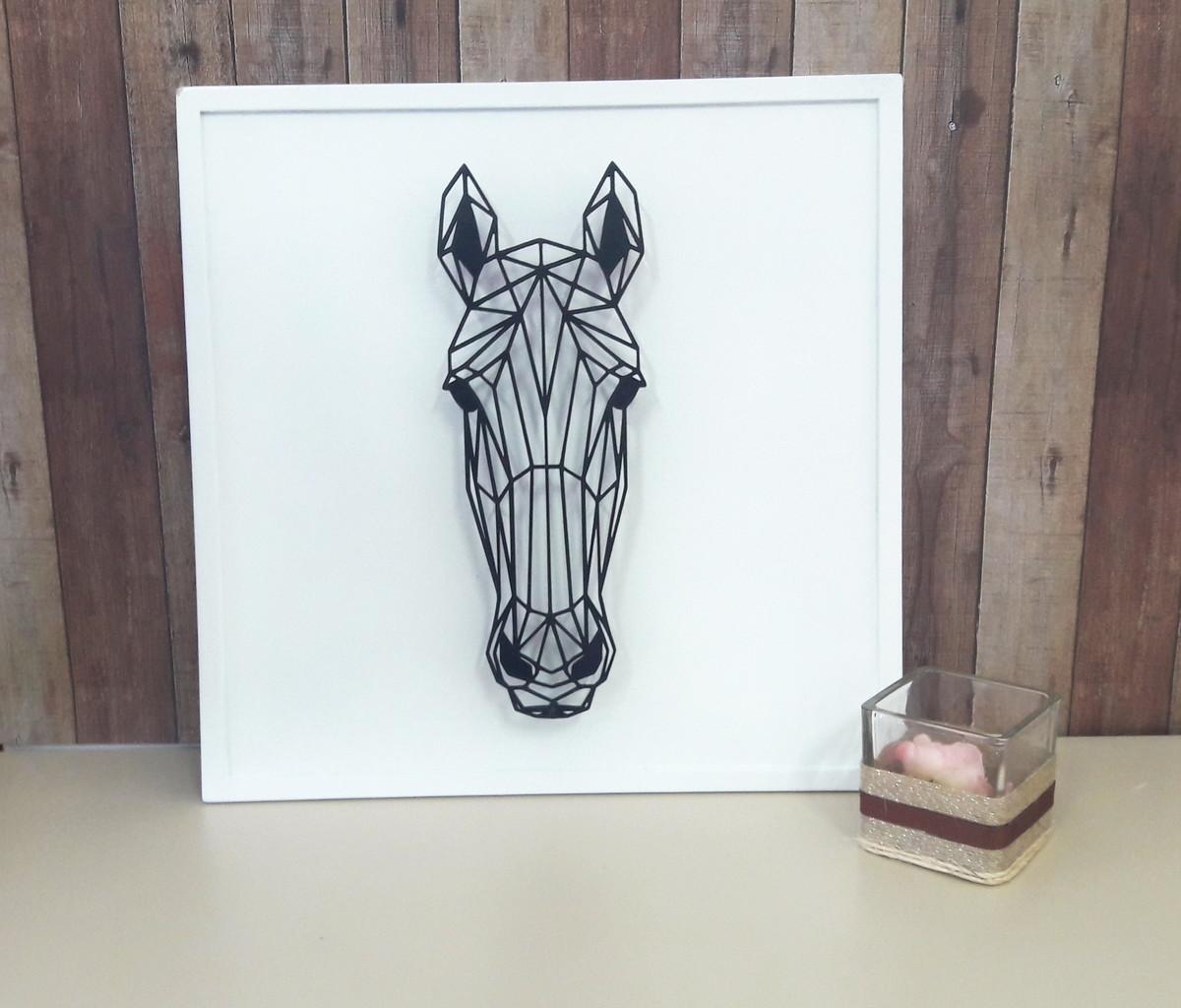 Quadro Decorativo Cavalo Geometrica No Elo7 Delliart Mdf