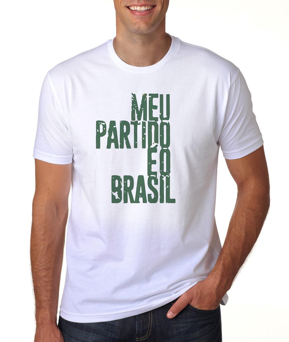 6a10f4ccedfe4 Camisa Camiseta Jair Bolsonaro Meu Partido É O Brasil 2018 no Elo7 ...