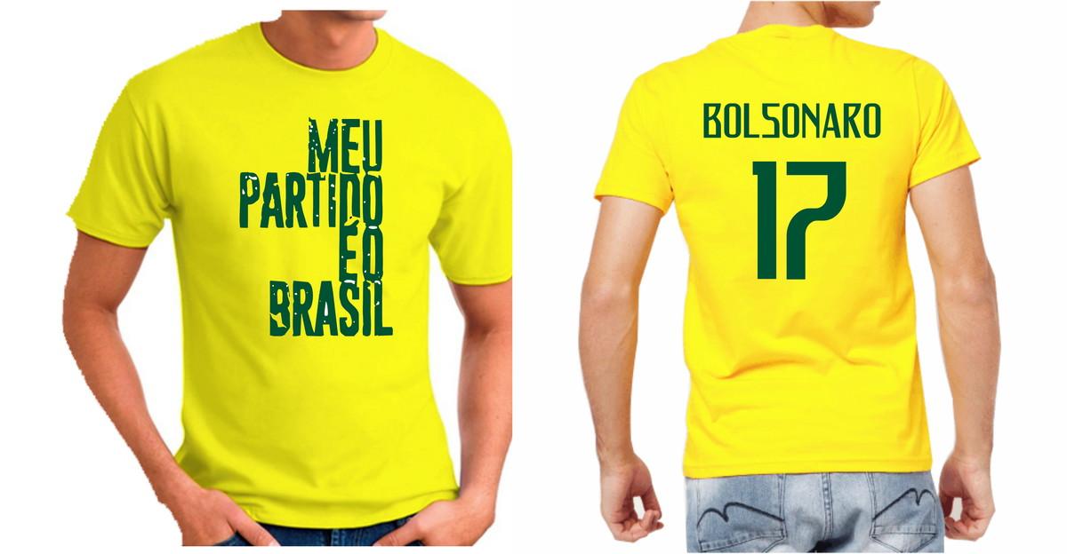 ad2f48fcea Camiseta Jair Bolsonaro Meu Partido É O Brasil Bolsomaito no Elo7 ...