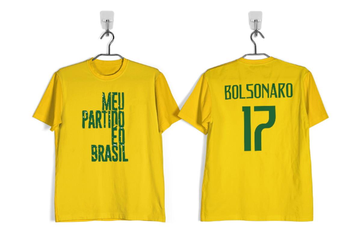 364615a201 Camisa Jair Bolsonaro Meu Partido É O Brasil Amarela no Elo7