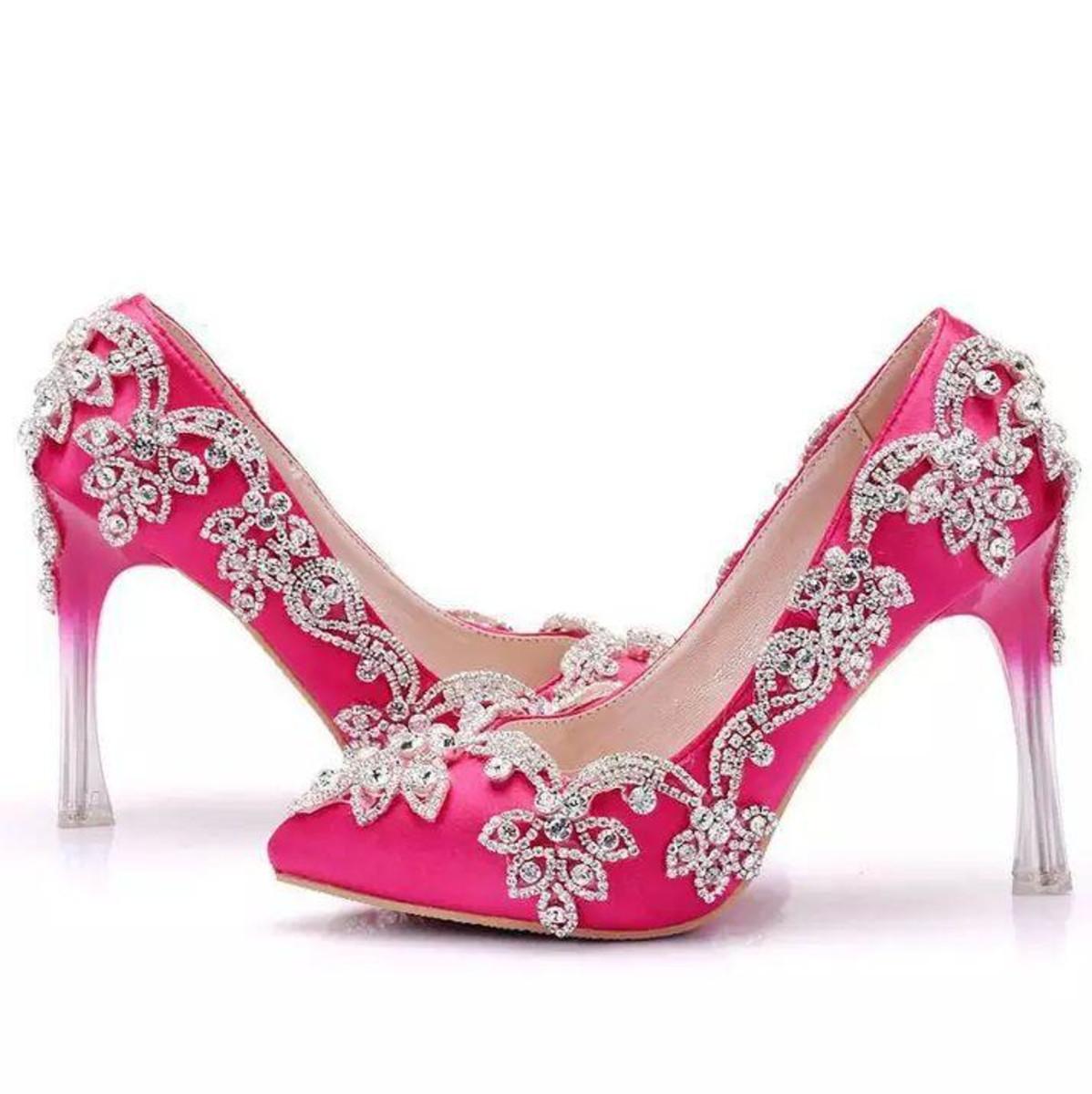 7adf2ef3d1 Sapato de Debutante noiva personalizado rosa strass no Elo7 ...