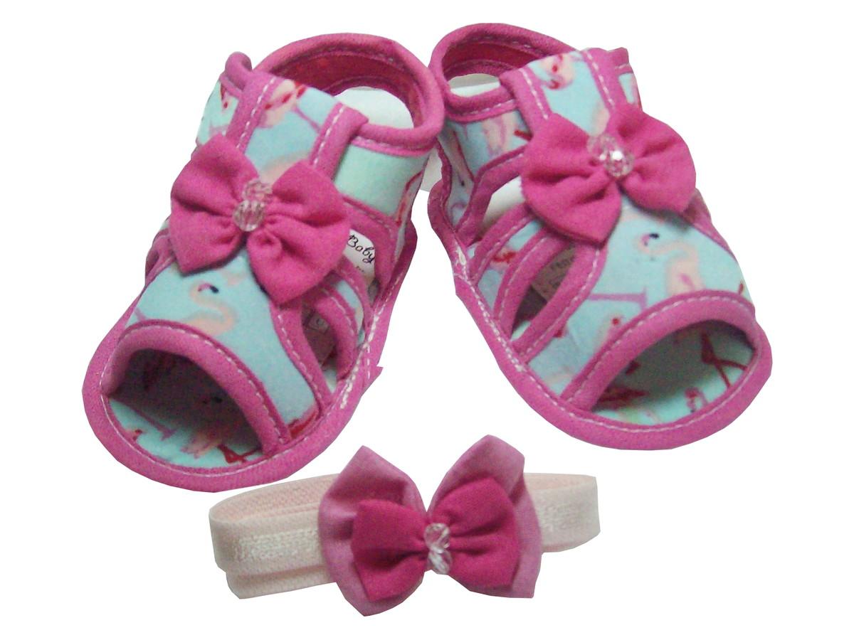 3f6e95e69 Sapatinho de Bebê Sandália Pink e Azul no Elo7   Charminho Baby (D86536)