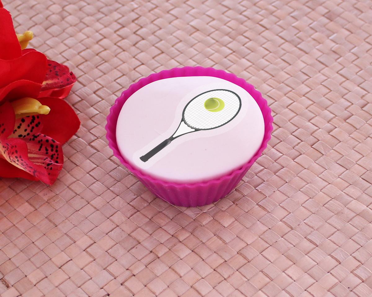 Aplique papel arroz comestível – raquete de tênis no Elo7  092a996d86333