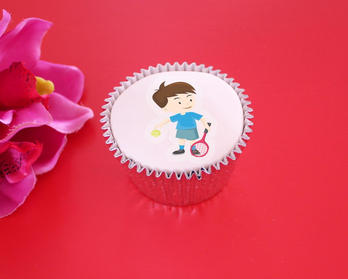 Aplique papel arroz comestível – menino jogador tênis no Elo7  10c2b2aaf111d