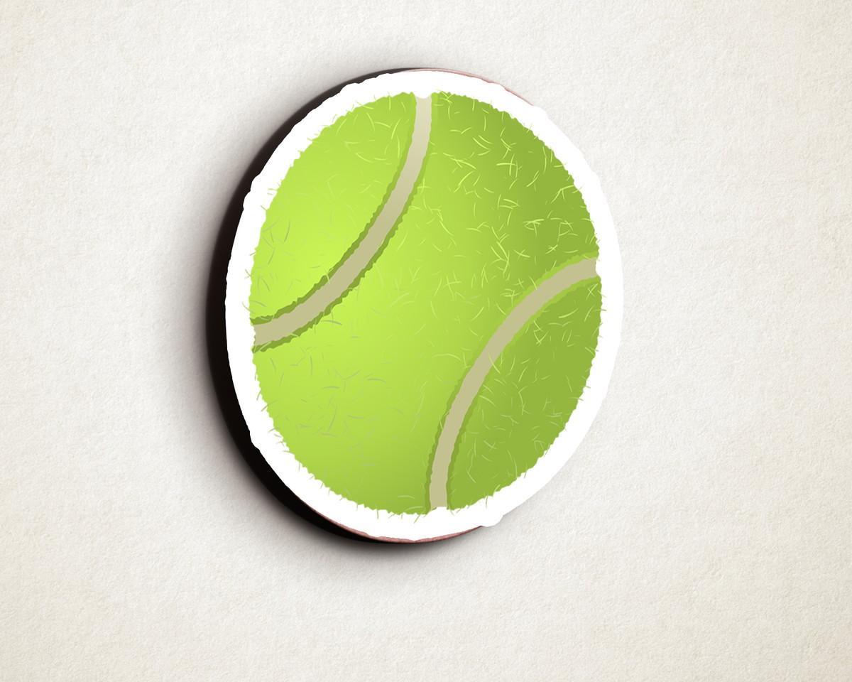 Aplique placa quadro - MDF e impressão - bola tênis no Elo7  52beb1fc609b3