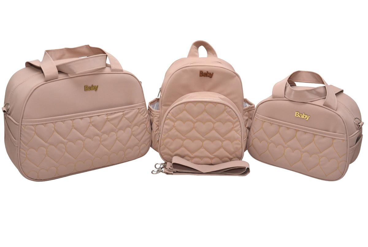 f2d8b7ce1 Kit Bolsa bebe maternidade luxo Feminino 3 peças no Elo7 | Isadora ...