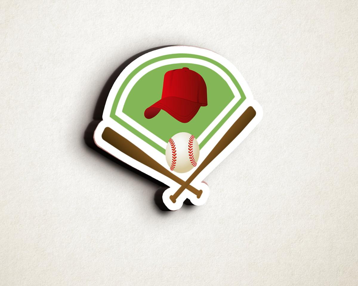 29edb704b Aplique placa quadro - MDF e impressão - beisebol taco bola no Elo7 ...