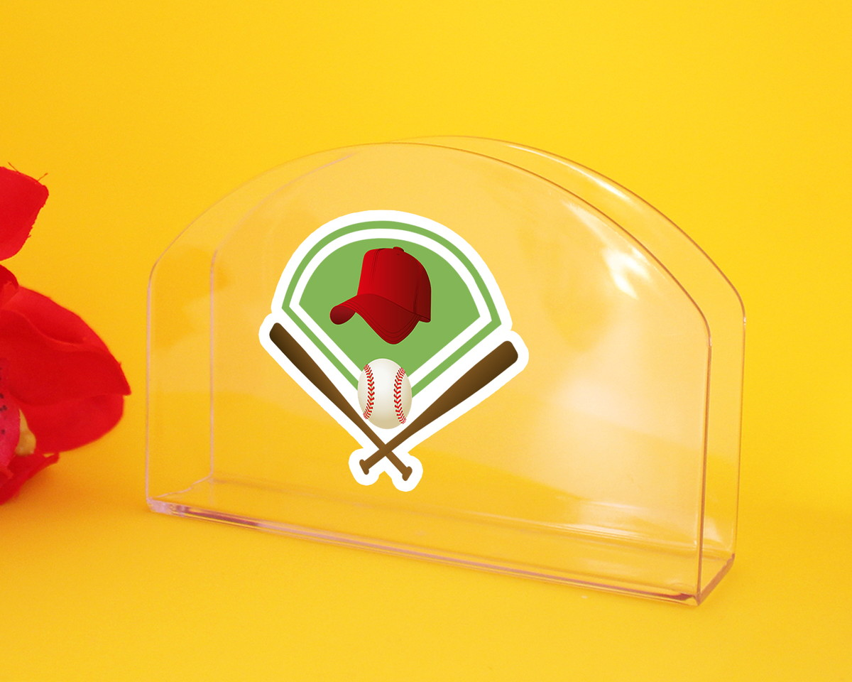 e0b7058da Porta-guardanapo de mesa - beisebol taco boné bola no Elo7