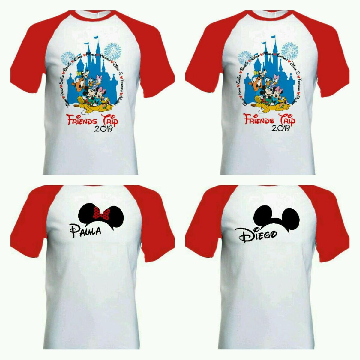 fc61910dbf kit camiseta para viagem Disney raglan no Elo7