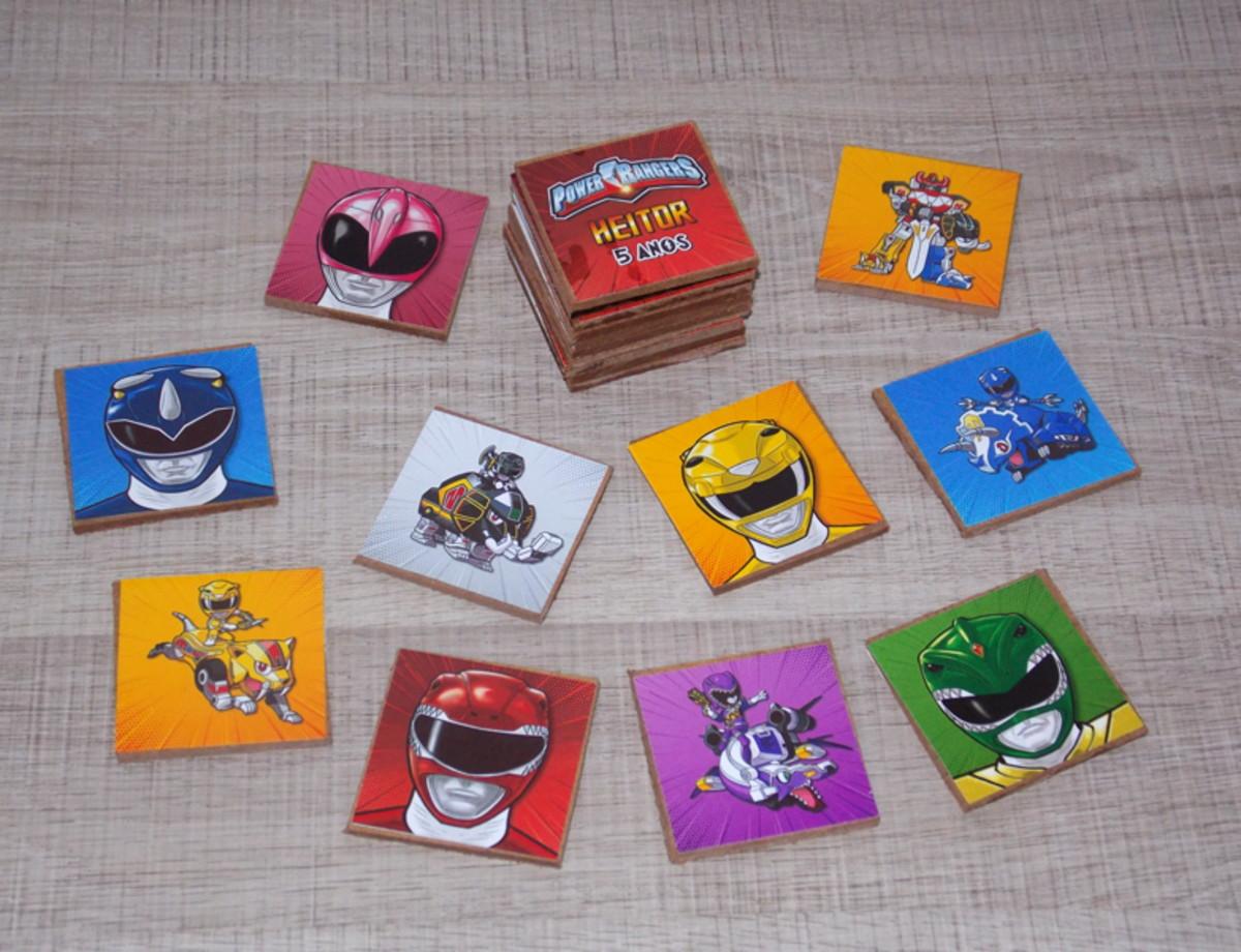 Jogo Da Memoria Power Rangers No Elo7 Balsamo Suave D89b32