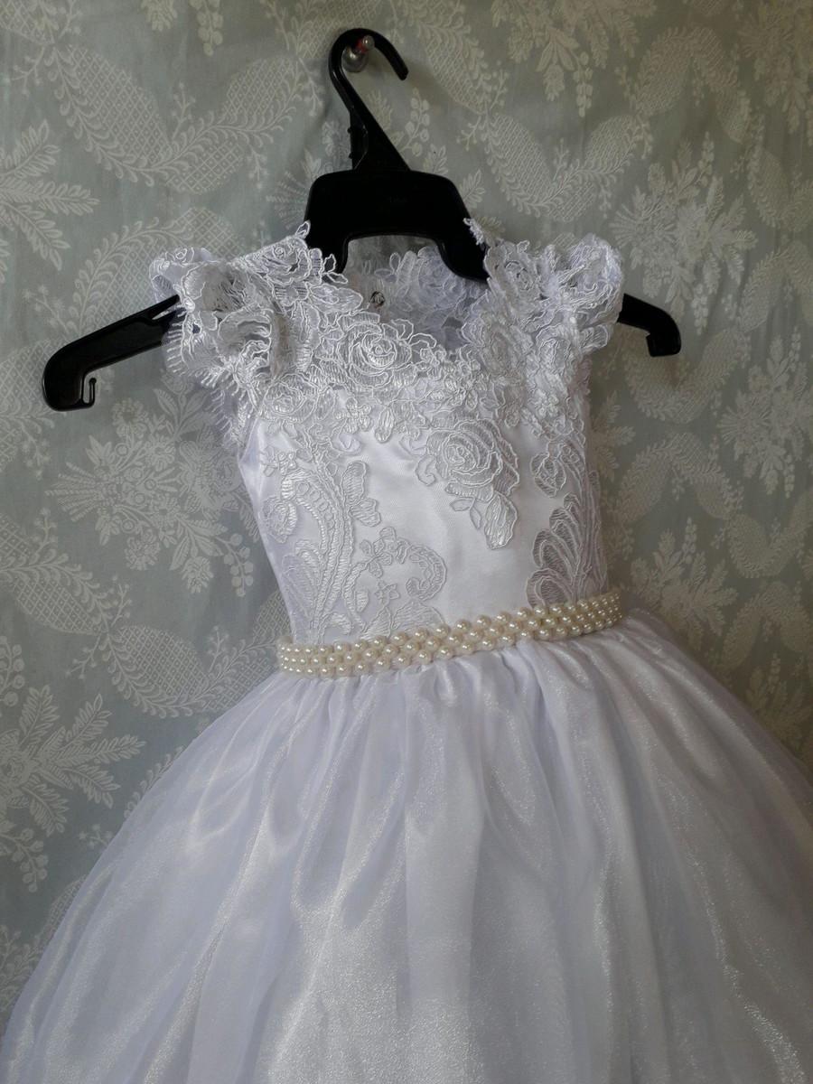 2d0c045da5 Vestido infantil festa luxo branco dama de honra no Elo7