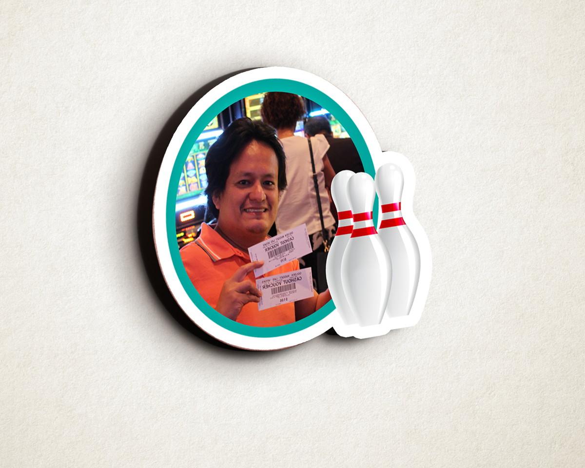Aplique placa quadro com foto - MDF - bola boliche no Elo7  9cf9f68aa4cb2