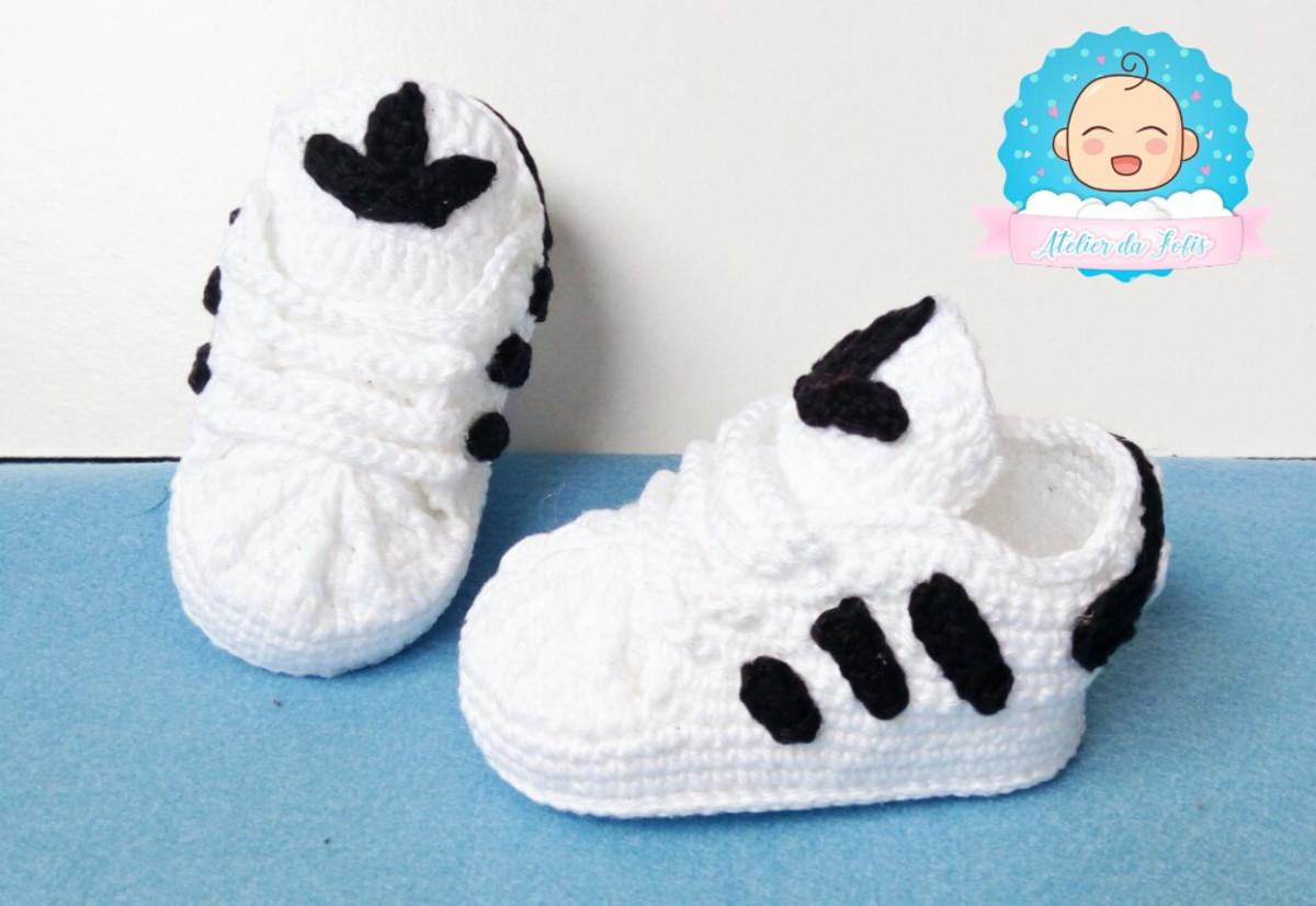 a49474f2060 Tênis de Bebê Adidas Branco no Elo7