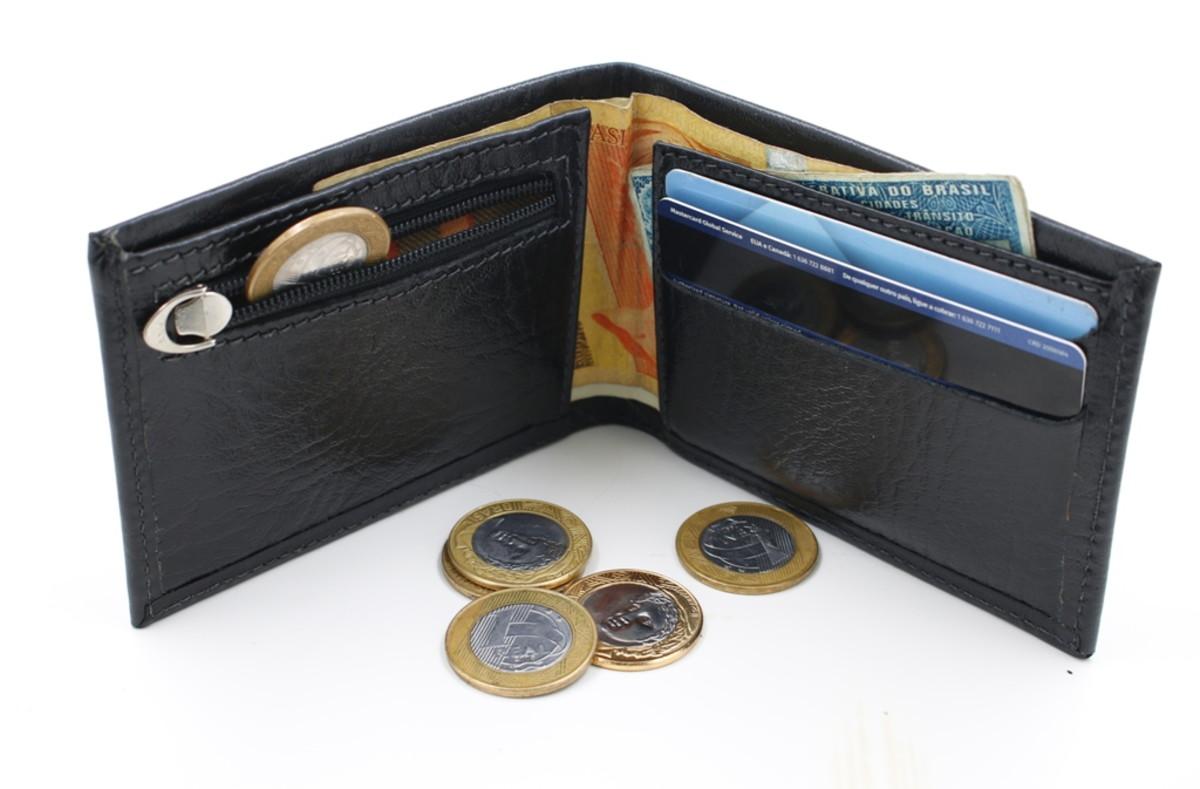 7b87d097b Mini carteira com porta moedas Oficina Massu no Elo7