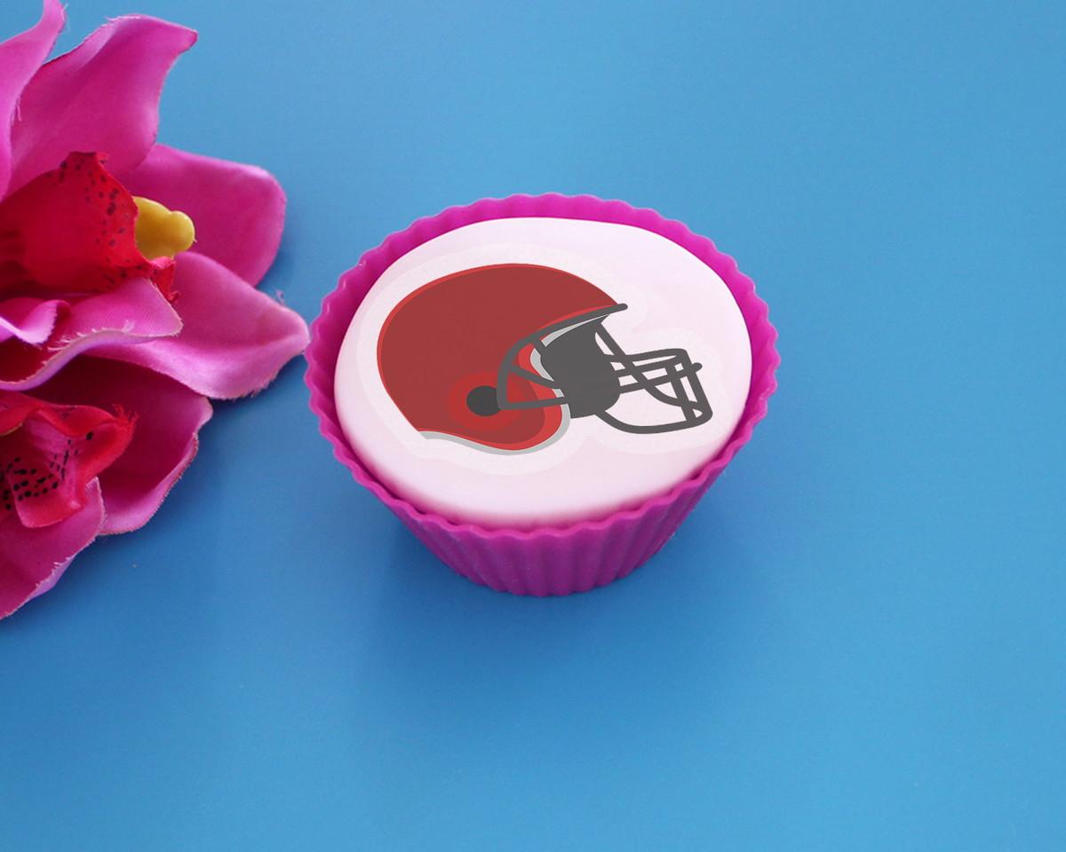 ddc545cfe0 Aplique papel arroz comestível - capacete futebol americano no Elo7 ...