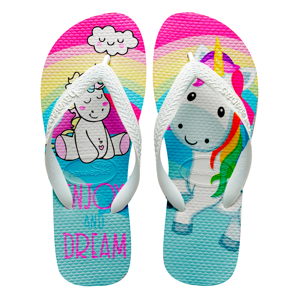 f4ca5cfdca Chinelos havaianas personalizado unicornio no Elo7