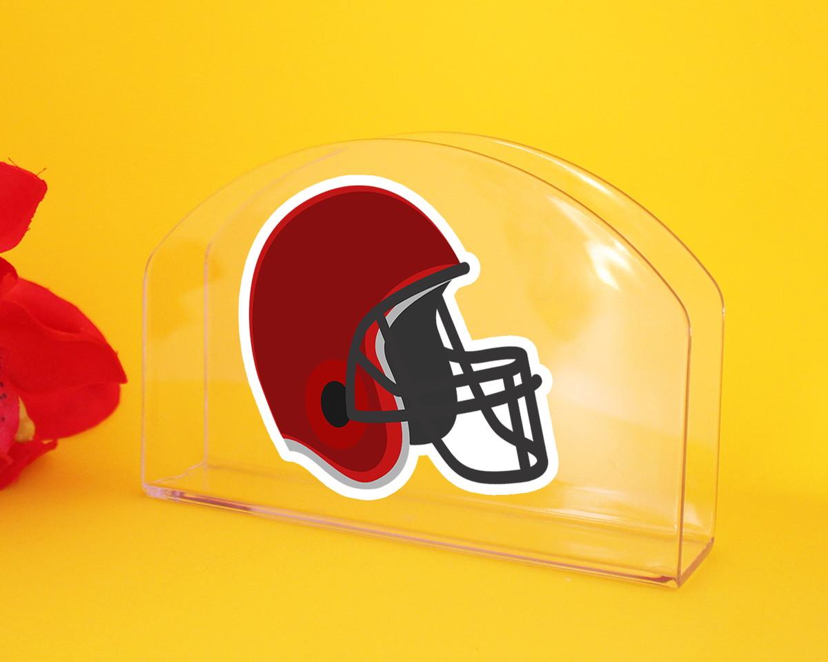 be8a476aa8 Porta-guardanapo de mesa - capacete futebol americano no Elo7