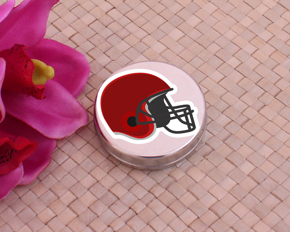 fc2b23957b Latinha mint to be com adesivo - capacete futebol americano no Elo7 ...