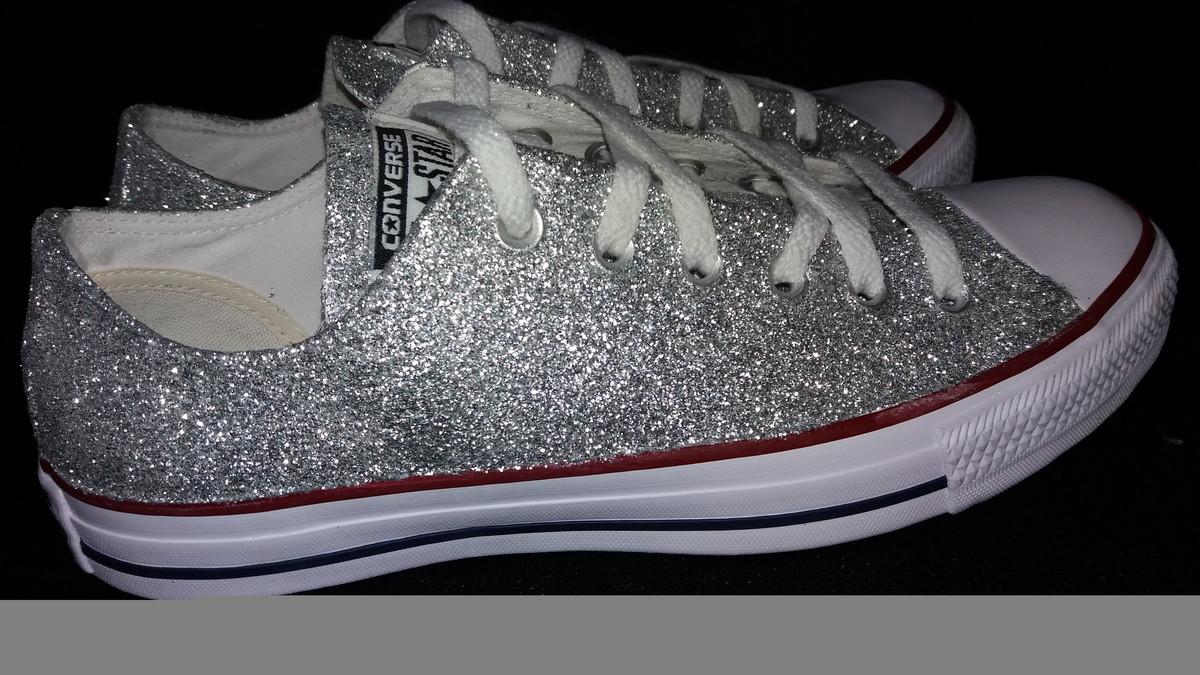 59ec7410196f8 Tênis All Star Customizado com Glitter no Elo7 | Ima Lopes ...